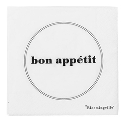 Serwetki Bon Appetit białe II 20 szt.