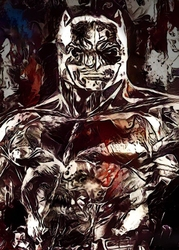 Legends of bedlam - batman, dc comics - plakat wymiar do wyboru: 60x80 cm