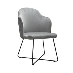 Nowoczesne krzesło tapicerowane samson x na metalowych nogach