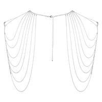 Sexshop - niezwykła ozdoba naramienniki z łańcuszków - bijoux indiscrets magnifique shoulder jewelry srebrny - online