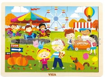 Viga  puzzle cztery pory roku - jesień