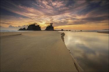 Wydma na plaży - plakat wymiar do wyboru: 70x50 cm