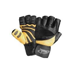 Rękawice kulturystyczne trec power max żółto-czarne