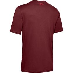 Koszulka męska under armour team issue wordmark ss - bordowy