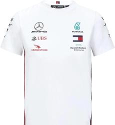 Koszulka dziecięca mercedes amg petronas f1 2020 biała - biały