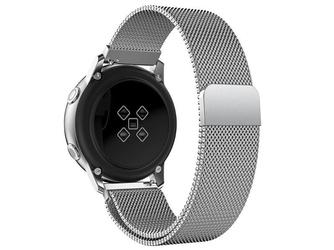 Bransoleta milanese pasek alogy do galaxy watch active 2 44mm srebrna - srebrny