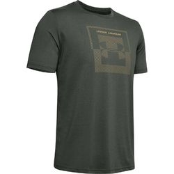 Koszulka męska under armour inverse box logo - zielony