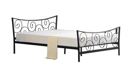 Łóżko metalowe Ramona 120x200 czarne