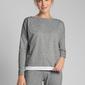 Bluzka od piżamy wykończona koronką - szara