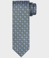 Zielony krawat jedwabny w kwiatowy wzór