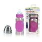 Butelka ze smoczkiem pacific baby grogrow 300 ml, silver-pink