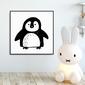 Sweet pinguin - plakat dla dzieci , wymiary - 30cm x 30cm, kolor ramki - czarny