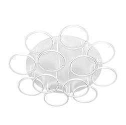 Plafon ledowe okręgi 12 biały in 3k
