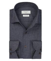 Granatowa flanelowa koszula profuomo slim fit 42