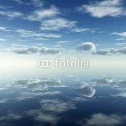 Tapeta ścienna odbicie chmur