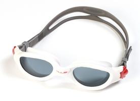Okularki pływackie na wody otwarte huub acute - białe  ciemne szkła