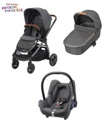 Wózek 3w1 maxi cosi adorra + gondola oria + maxi cosi cabriofix
