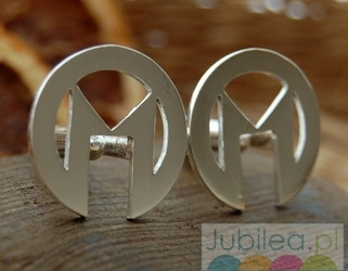 Mm - srebrne spinki dla m...