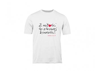 T-shirt s damski biały napis zmdzż