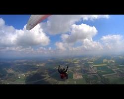 Lot paralotnią z akrobacjami i wideofilmowaniem dla dwojga - wrocław