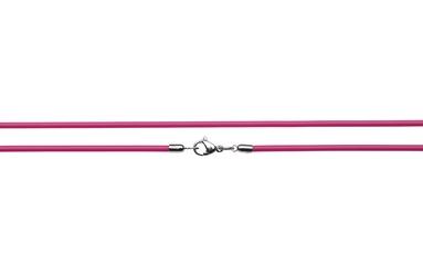 Naszyjnik silikonowy 2613-3 różowy