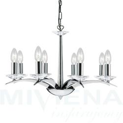 Kensington lampa wisząca 8 chrom