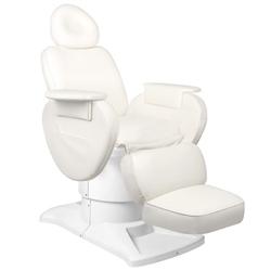 Fotel kosmetyczny elektr. azzurro 813a 3 siln, biały