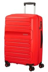 Walizka american tourister sunside 68 cm powiększana - red