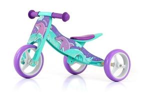 Milly mally jake dolphin drewniany rowerek biegowy 2w1 + prezent 3d
