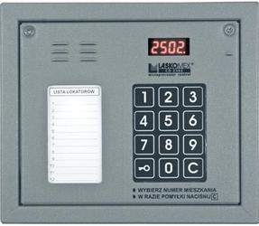 Laskomex cp-2502np srebrny panel audio z mini listą lokatorów  - szybka dostawa lub możliwość odbioru w 39 miastach
