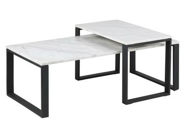 Dwuczęściowy zestaw stolików katia marmur