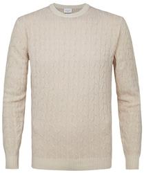Sweter z fakturą beżowy s