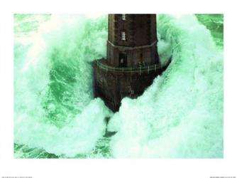 Ogromna fala - Latarnia morska - reprodukcja