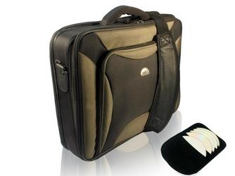 Natec torba do laptopa pitbull black-olive 17.3