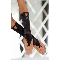 Czarne satynowe rękawiczki slc