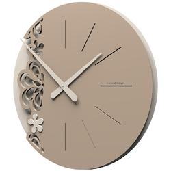 Zegar ścienny merletto duży calleadesign caffelatte 56-10-2-14