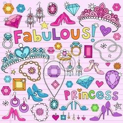 Naklejka doodles księżniczka notebook ilustracji wektorowych
