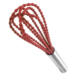 Cuisipro - trzepaczka silikonowa skręcana - czerwona
