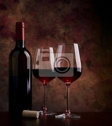 Obraz kieliszki do wina na stole