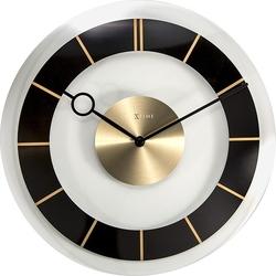 Zegar ścienny retro czarny