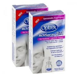 2x optrex actispray 2in1 oczy suche i podrażnione +gratis
