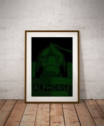 H4ck3d - alphonse, fullmetal alchemist - plakat wymiar do wyboru: 40x60 cm