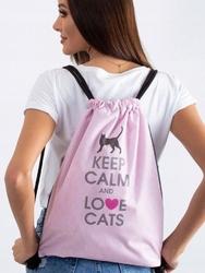 Plecak miejski worek różowy love cats - multi