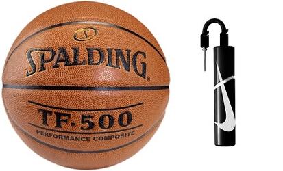Piłka do koszykówki spalding tf-500 + pompka nike essential