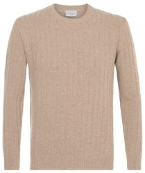 Elegancki beżowy sweter wełniany xl