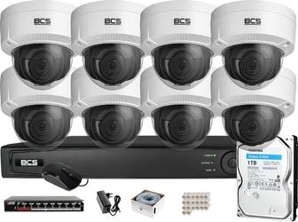 Zestaw monitoringu bcs view rejestrator 16 kan. ip 8x kamera 4k bcs-v-di831ir3