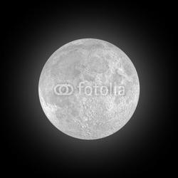 Obraz na płótnie canvas dwuczęściowy dyptyk księżyc w pełni na czarnym niebie