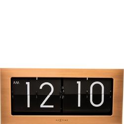 Zegar stołowy big flip nextime miedziany 5198 co