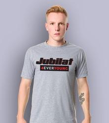 Jubilat t-shirt męski jasny melanż xxl