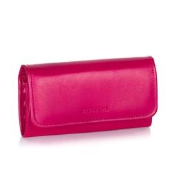 Duży elegancki portfel damski ze skóry brodrene a-13 fuksja